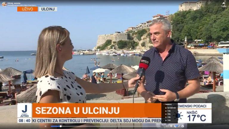 Read more about the article Drejtori i Organizatës Turistike të Ulqinit në Emision e Mëngjesit Mirëmëngjes Mali i Zi